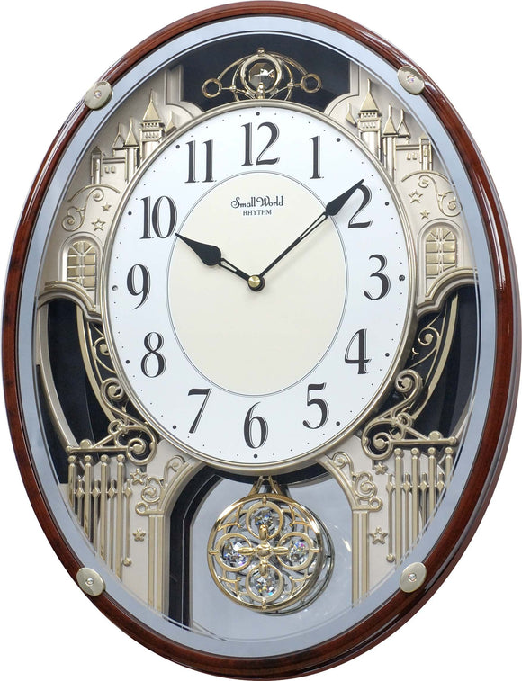 Rhythm Clocks Motion Clock, Silver - 782273682069