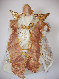 25cm Tree Top Angel with Gold Wings