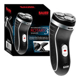 Rechargeable Cordless Men's Rotary 3 Three Headed Shaver with Trimmer