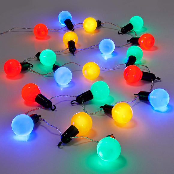 Set of 20 Battery Operated LED Bulb Party Timer Lights