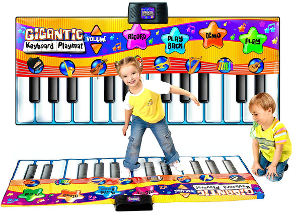 Children's Giant Electronic Keyboard Piano Musical Playmat Toy Instrument