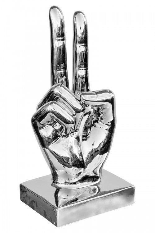Ceramic Large Victory Hand Sign