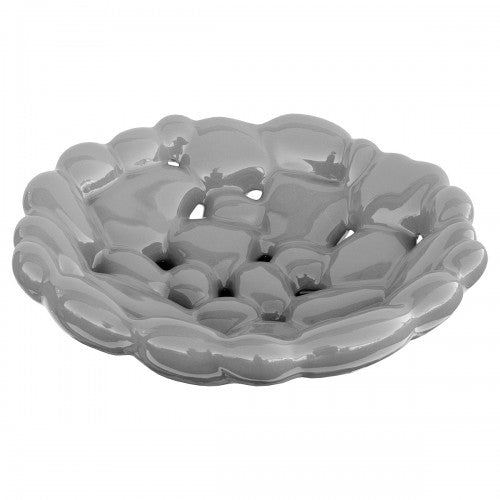 Ceramic Grey Round Bubble Bowl