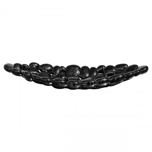 Ceramic Large Bubble Tray - Black