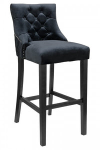 Victoria Velvet Fabric Bar Stool