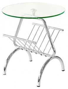 Glass Top Magazine Table