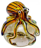 Glass Octopus Paperweight