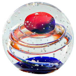 Glass Cosmos Paperweight Ornament