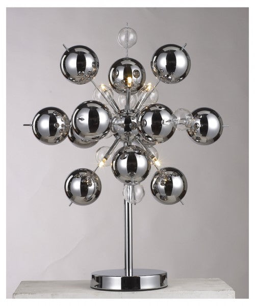 Chrome Ball Table Lamp