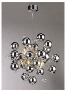 Chrome Bauble Chandelier