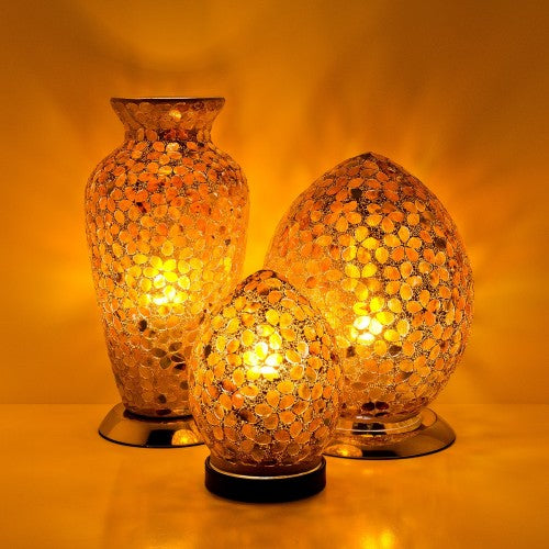 Brown Flower Mosaic Glass Lighting