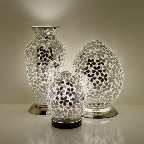 Mirrored Flower Mosaic Tile Lighting