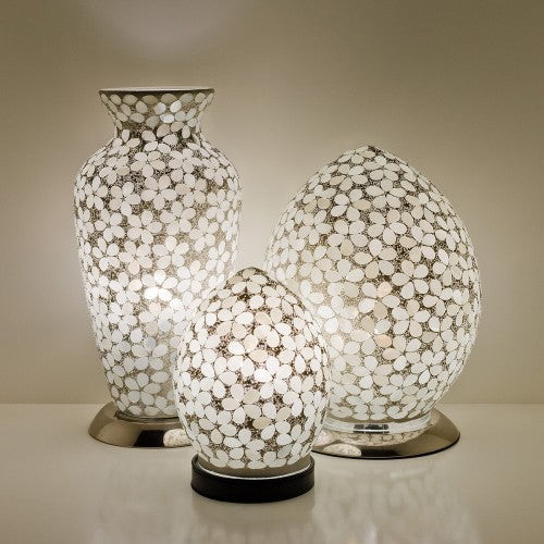 Opaque Flower Mosaic Tile Lighting