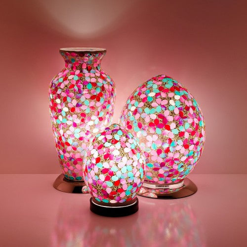 Pink Flower Mosaic Tile Lighting