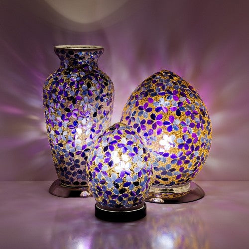 Purple Flower Mosaic Tile Lighting