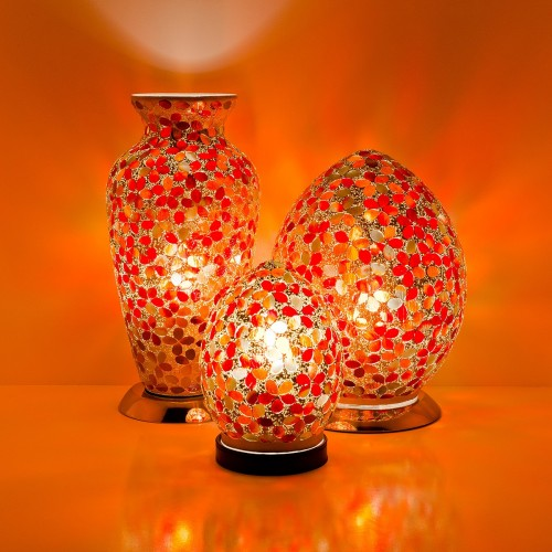 Red Flower Mosaic Tile Lighting
