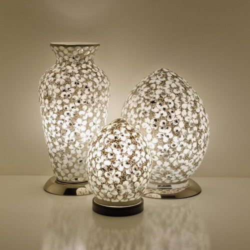 White Flower Tile Mosaic Lighting