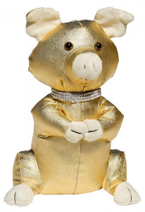 Golden Pig Door Stop