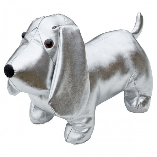 Silver Doggy Door Stop