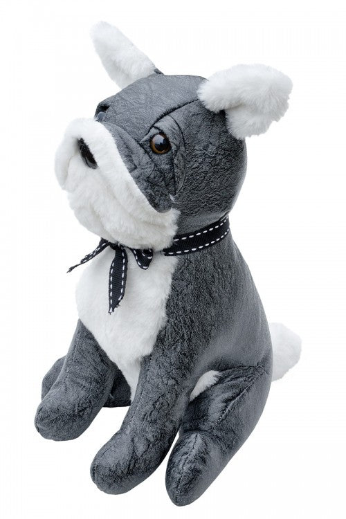 Grey Bulldog Door Stop