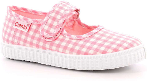 Cienta Mary Jane - Pink Gingham