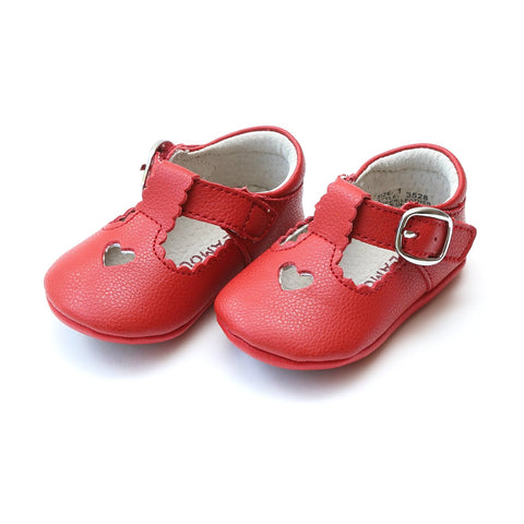 Rosalie Crib Mary Jane, Red (Infant) by L'Amour