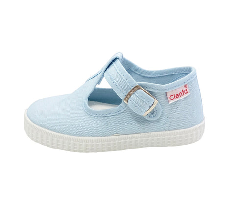 Cienta T-Strap - Light Blue