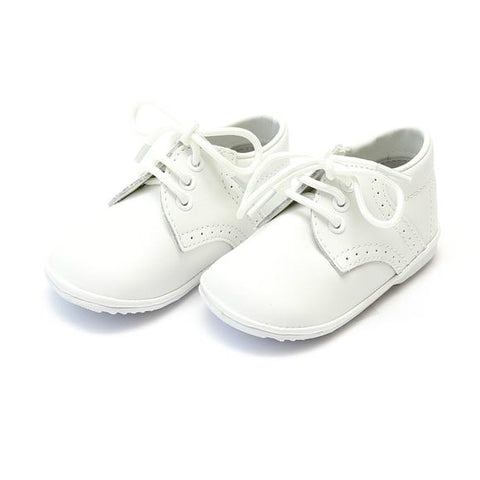 James Leather Lace Up (Baby) - White, Angel by L'Amour