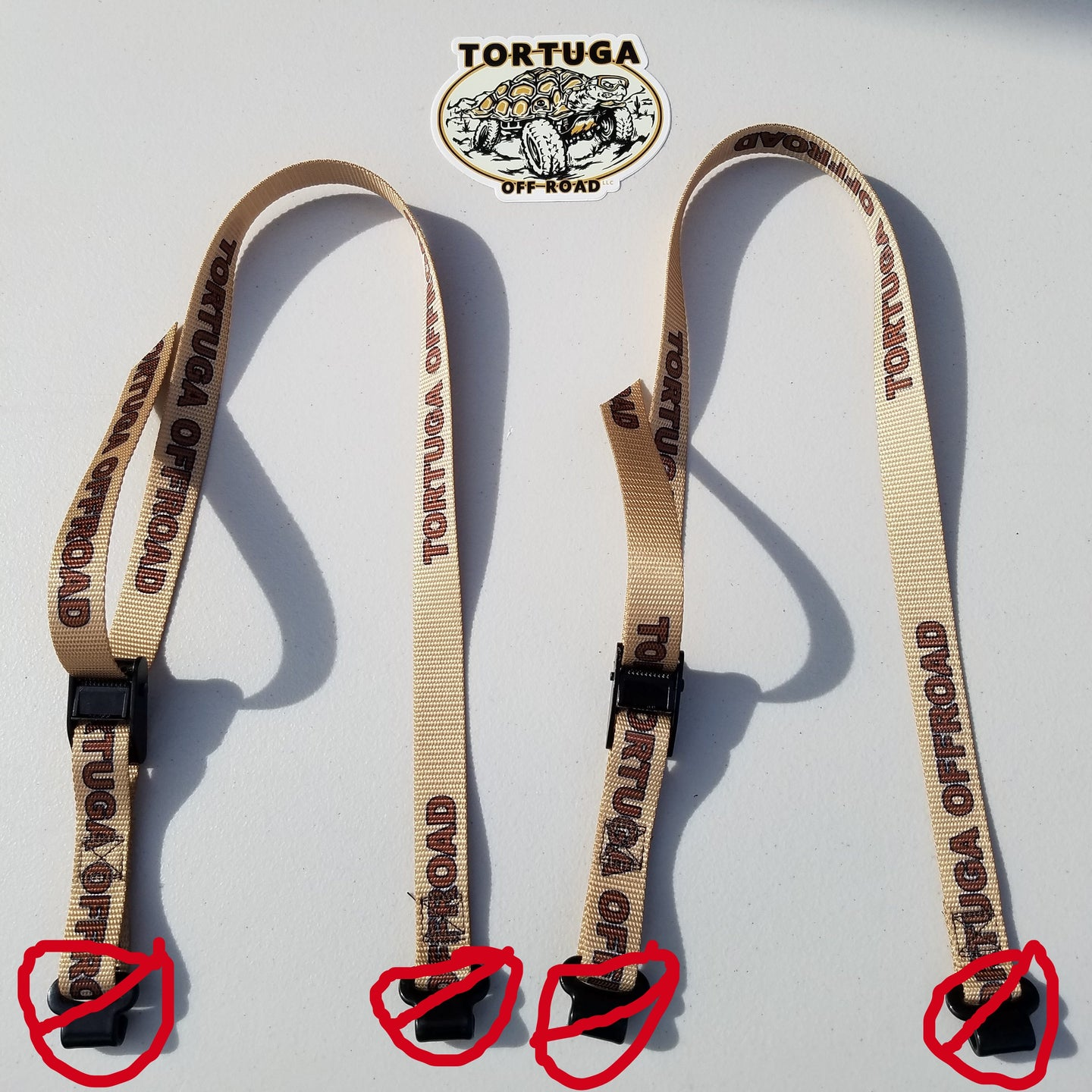 Tortuga Off Road Cooler/Fridge Straps - Double Foot