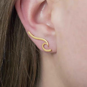 """Crashing Wave"" Earrings"