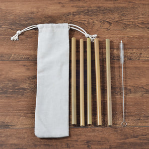 Bamboo Straw 5 Pack