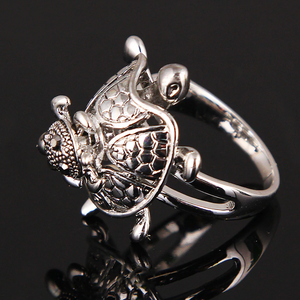 """Mother & Son Turtles"" Silver Ring"