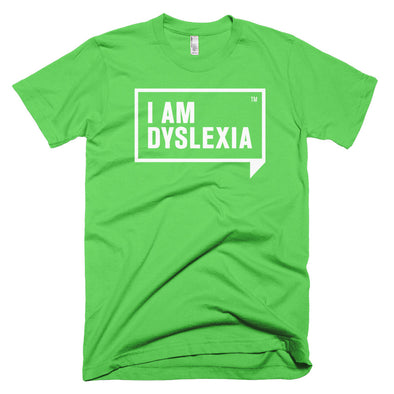 I Am Dyslexia White Logo T-Shirt