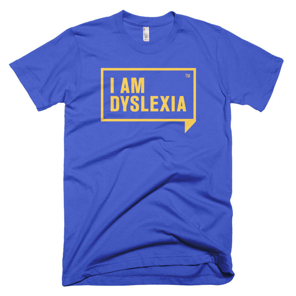 I Am Dyslexia Yellow Logo T-Shirt
