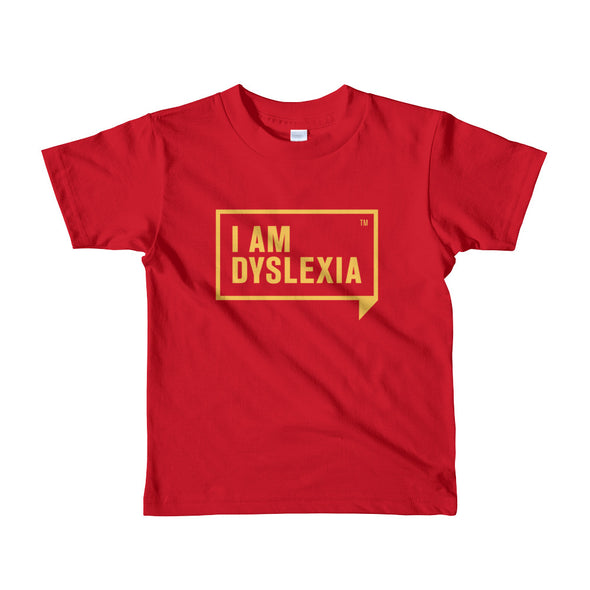 I Am Dyslexia Youth Yellow Logo T-Shirt (2-6 Years)