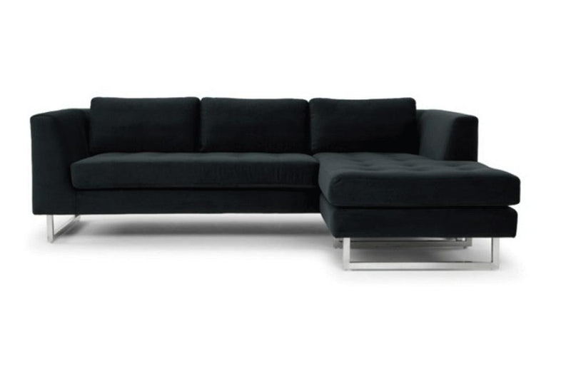 Calais Sectional Sofa Black