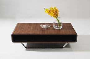 Luca Walnut Modern Coffee Table