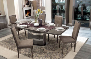 Modern Platinum Slim Dining Set