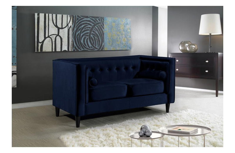 Beech Navy Love Seat