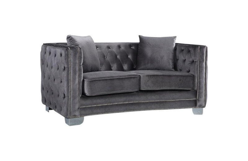 Destry Grey Love Seat
