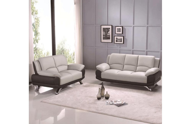Adonia 2PC Living Room Set Gray and Black