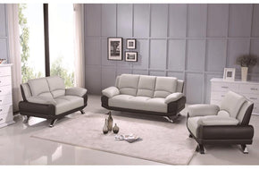 Adonia 3PC Living Room Set Gray and Black