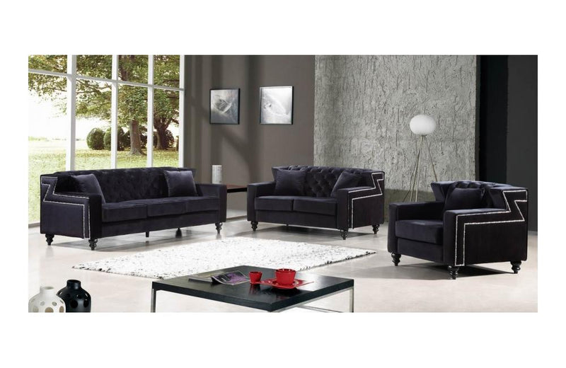 Callie Black sofa set