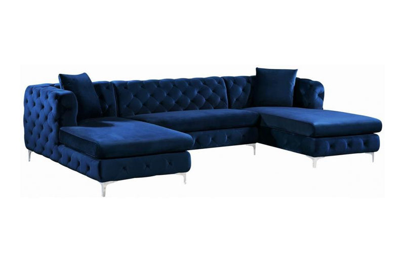 Avri Navy Sectional Sofa