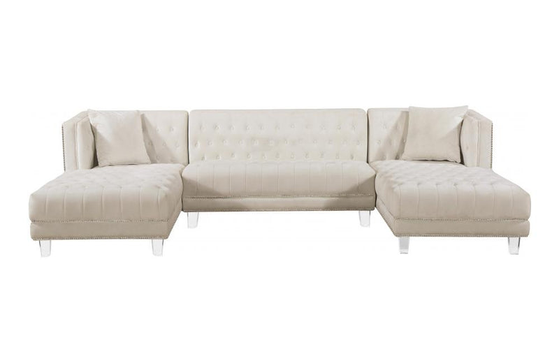 Barden Cream Sectional Sofa