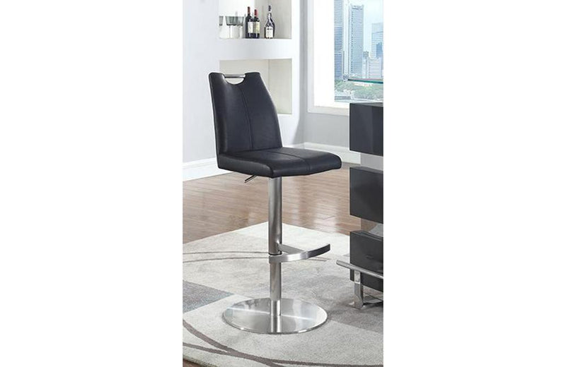 Claire Contemporary Handle Back Adjustable Stool Black