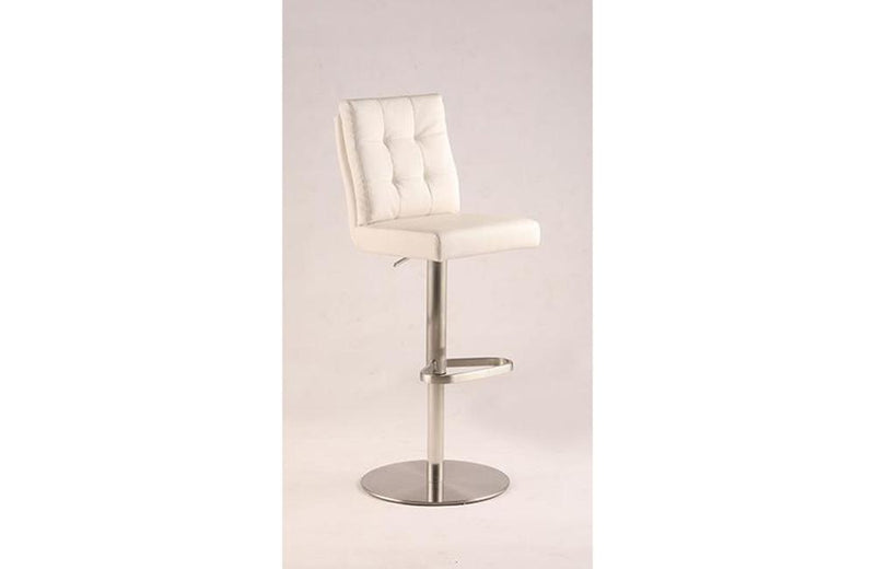 Aaron Modern Tufted Back Adjustable Height Stool White