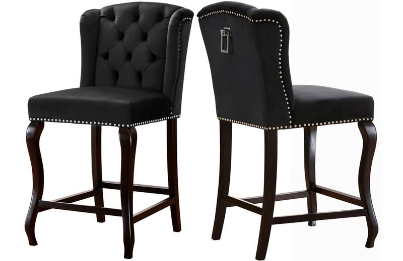 Abir Black Bar Stool