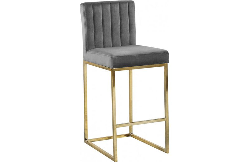 Abrienne Grey Bar Stool