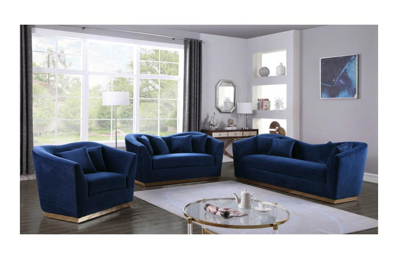 Harmony Navy sofa set